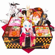 Mizushirazu, Pixiv Girls Collection 2011, Pixiv Girls Collection, Meat, Sushi, Bento