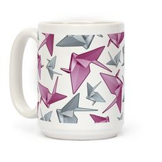 Origami Paper Crane #cranes #mugs #coffeemugs #papercranes #origami