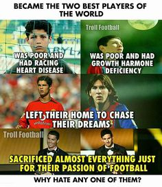 Ronaldo and Messi! My Boys! Football Quotes, Football Is Life, Sport Football, Football Troll, Funny Soccer Memes, Sports Memes, Messi Soccer, Nike Soccer, American Football