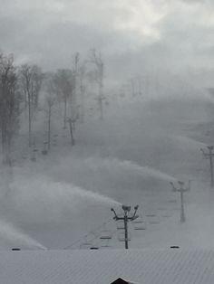 Snow making in progress at Perfect North Slopes