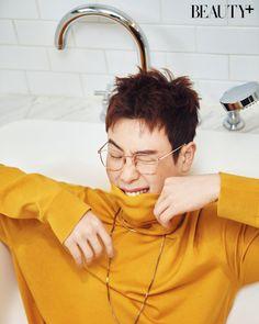 P.O (Block B) - Beauty+ Magazine February Issue Block B Kpop, Po Block B, Block B Members, Bbc, Kyung Park, Pyo Jihoon, B Bomb, Fandom, Photo Blocks