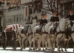 President John F. Kennedy's casket in procession to Arlington National Cemetery, November 25, 1963.