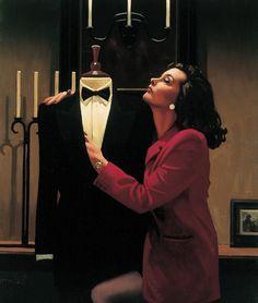 Jack Vettriano (Scottish, born 1951) 'The Longing' Oil on canvas ~ 24 x 20 inches ~ 1997