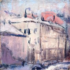 Ellen Thesleff (Finnish artist) 1869 - 1952 Näkymä Helsingistä (View from… Lawrence Lee, Female Painters, Pink Room, Global Art, City Art, Hanging Art, Helsinki, Art Market, Art History
