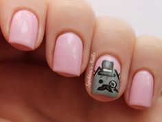 Pusheen the cat nails =(^. Cat Nail Art, Cat Nails, Nail Polish Art, Love Nails, How To Do Nails, Pretty Nails, Fancy Nails, Gothic Nails, Seasonal Nails