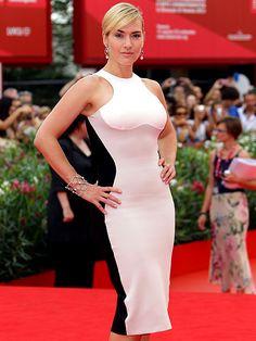 Kate Winslet - optical illusion dress by Stella McCartney