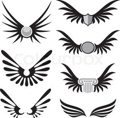 Wing shaped design elements to give your design a flying flavor ...