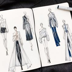 Cool design ideas and sketches by designer @arthuraleksander #fashionsketchbook,