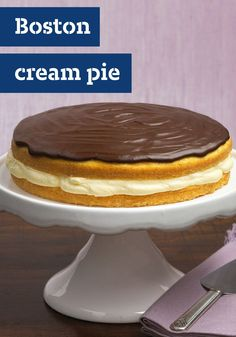 Boston Cream Pie – Here's the dessert recipe that made Boston famous—easy to make, creamy with pudding, and topped with a luscious layer of chocolate.