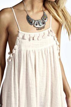 Nora Tassel Trim Swing Dress alternative image