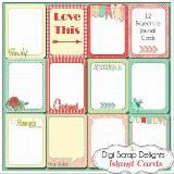 Digital Scrapbook Kits, Project Life Cards, #BibleJournaling Cards and #FREEBIES #digiscrapdelights