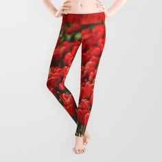 #photography #red #tulips #tulipsfield #flowers #floral #girly #pretty #nature #leggings available in different #homedecor products. Check more at society6.com/julianarw