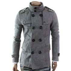 Doubliju Mens Double PEA Wool Coat