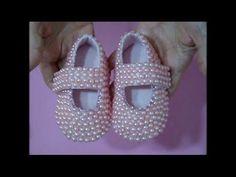 DIY / como fazer sapatinho de perola de feltro com molde - YouTube