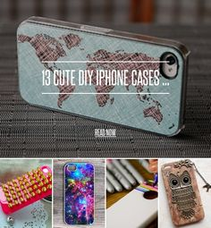 13 Cute DIY IPhone Cases ... - Diy [ more at http://diy.allwomenstalk.com ] Lately, I've been obsessed with DIY iPhone cases. So I came up with a list of a couple ideas that you could do on your own. Why pay more for a little glitz or detail when you can just do it yourself?The best part about DIY projects is that you can make them exactly how you like and however you want. So here are a couple of cute, fun DIY iPhone cases to try out. Enjoy!... #Diy #Pen #White #Case #Easiest #Phone