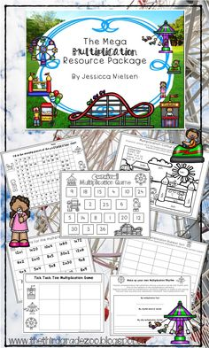 $This carnival themed multiplication resource package contains 91 pages of worksheets, games, and fun ways for your students to practice and memorize their basic multiplication facts.