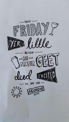Friday Geordie doodle. Illustration Doodles, Friday, Illustration, Gifts, Decor, Tatoo, Presents, Decoration, Illustrations