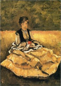 Woman Seated on the Lawn - Gustave Caillebotte