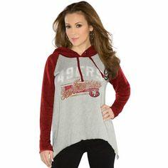 Touch by Alyssa Milano San Francisco 49ers Ladies Rebel Hoodie - Gray
