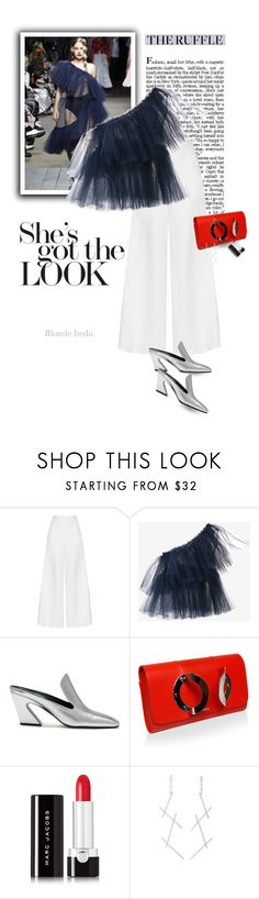 """""""Luxury is about personal style and creating comfort and ease  ✈️"""" by blonde-bedu ❤ liked on Polyvore featuring Molly Goddard, Miguelina, Mulberry, Mor, Marc Jacobs, AS29, Barneys New York and modern"""