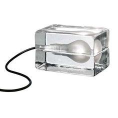 design house stockholm block lamp. I can't resist the light bulb..