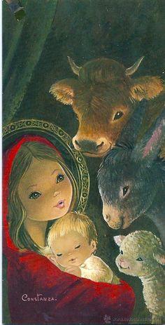 Christmas Jesus, Christmas Scenes, Christmas Villages, Christmas Nativity, Christmas Door, Christmas Past, Vintage Christmas, Christmas Holidays, Jesus E Maria