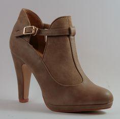 Scarpa da donna colore khaki, tacco 9 cm  http://aemstore.it/home/18-scarpa-khaki.html