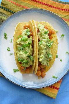 Chickpea Tacos with Guacamole | coffeeandquinoa.com