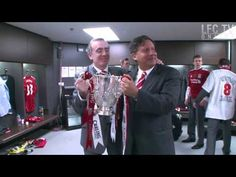 Owners celebrate in the dressing room  See more LFC videos at http://www.liverpoolfc.tv/video