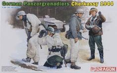 1/35 Panzergrenadiers Cherkassy '44 (4) (dml6490) DML Plastic Model Military Figures