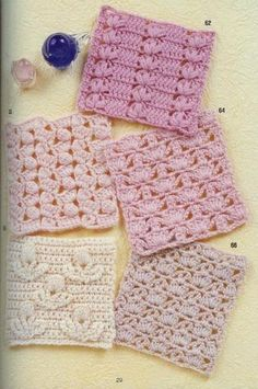 some of these would make very nice crocheted washcloths