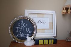so cute... need to make a chalkboard paint plate....