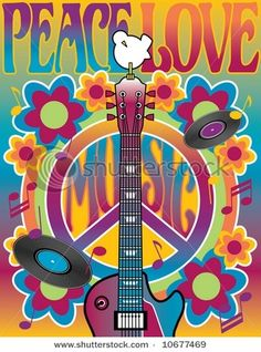 Peace and Love Poster Art