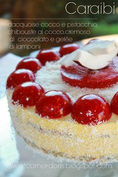 .: Torta Caraibi di Luca Montersino Sweet Corner, White Cakes, Italian Cookies, Unique Cakes, Dessert Recipes, Desserts, Dessert Ideas, Cakes And More, Italian Recipes