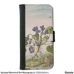 Ancient Historical Art Monogram iPhone 6 Wallet Case