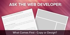 One of the questions we get frequently when building a website: What comes first, the copy or the design? The answer might surprise you. Building A Website, Best Practice, First They Came, Marketing Tools, Design Development, Cards Against Humanity, Content, This Or That Questions