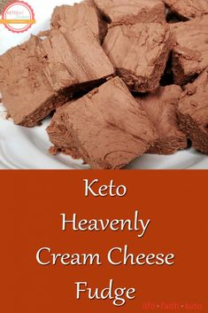 If you like cream cheese frosting, you will love this recipe for keto cream cheese fudge! Not only is it easy to make, but this chocolate cream Cream Cheese Fudge Recipe, Chocolate Cream Cheese, Keto Desserts Cream Cheese, Cream Cheese Frosting, Bakers Chocolate, Chocolate Flavors, Chocolate Tarts, Chocolate Fudge, Low Carb Desserts