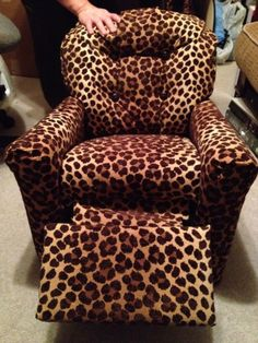 After shot of child's recliner reupholster.  I can't figure out how to pin 2 pictures to the same pin!