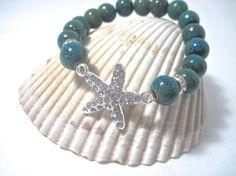 Starfish Bracelet  Nautical Charm  by Themejewelryandacces on Etsy