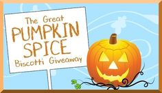 NEW! Great Pumpkin Spice Biscotti Instant Win Game WIN a FREE Box of Limited Edition Pumpkin Spice Biscotti! Enter DAILY-Ends 11/2