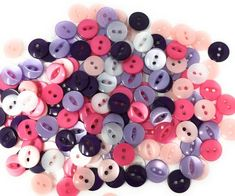 Fish eye button bright pink with 2 holes available in diameter 11mm or 14mm sewing button and Mercerie