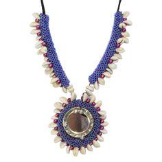 Seashell Jeko Moti Necklace for Chaniya Choli. #navratri2015 #chaniyacholi #handmade fashionvalley.in