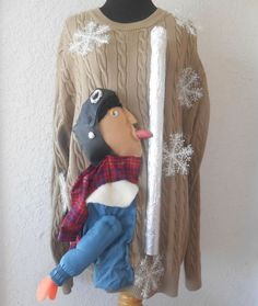 this wins the ugly Christmas sweater award, hands down. It's actually kinda EPIC! An UGLY Sweater with A Christmas Story theme by UglySweaterStore Tacky Christmas Party, A Christmas Story, Christmas Humor, Christmas Ideas, Xmas Party, Merry Christmas, Holiday Ideas, Holiday Style, Christmas 2017