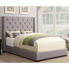 Pulaski Furniture Shelter Ash Queen Upholstered Headboard - The Home Depot Queen Headboard, Headboard And Footboard, Wingback Headboard, Contemporary Headboards, Pulaski Furniture, King Platform Bed, Online Furniture Stores, Upholstered Beds, Shelter