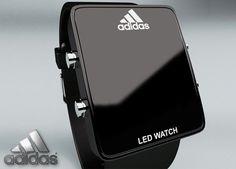 adidas led watch white