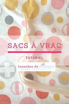 Tutoriel pour coudre vos sacs à vrac - Coin Couture, Couture Sewing, Beginner Sewing Patterns, Sewing Projects For Beginners, Knitting Beginners, Diy Projects, Sewing Hacks, Sewing Tutorials, Sewing Tips
