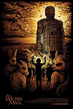 Alternative Movie Poster for The Wicker Man by Dan Mumford