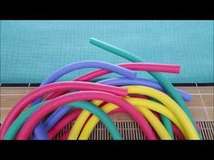 This is a basic aqua aerobics workout using a pool noodle. These moves will challenge the whole body and using the buoyancy resistance of the noodle can be u. Water Aerobics Routine, Water Aerobics Workout, Water Aerobic Exercises, Pool Workout, Pool Noodle Exercises, Swimming Pool Exercises, Benefits Of Cardio, Pool Noodles, High Intensity Interval Training