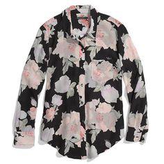 silk rose print boyshirt ++ madewell