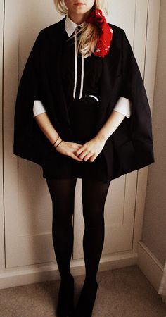 DIY turn a jacket into a cape